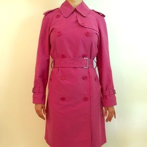 Pink Burberry raincoat